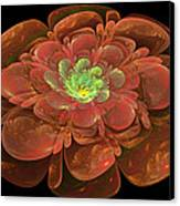 Textured Bloom Canvas Print by Sandy Keeton