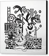 The Acrobats Canvas Print by Barbara Sala