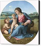 The Alba Madonna Canvas Print by Raffaello Sanzio of Urbino