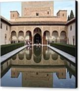 The Alhambra Palace Reflecting Pool 2 Canvas Print