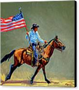 The All American Cowboy Canvas Print