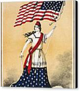 The American Flag A New National Lyric Canvas Print