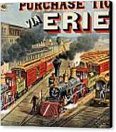 The American Railway Scene  Canvas Print by Currier and Ives