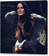 The Angel Prayed Canvas Print by Laurie Search