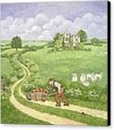 The Apple Barrow Canvas Print