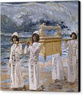 The Ark Passes Over The Jordan Canvas Print by James Tissot
