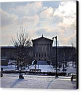 The Art Museum In The Snow Canvas Print by Bill Cannon