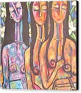 The Art Show Canvas Print by Chaline Ouellet