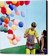 The Balloon Man Canvas Print by Michael Swanson