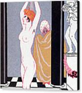 The Basin Canvas Print by Georges Barbier