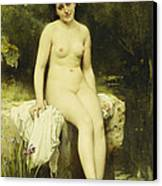 The Bather Canvas Print by Leon Bazile Perrault