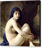 The Bather Canvas Print by William Bouguereau