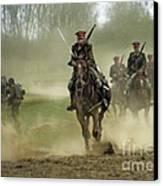 The Battle Canvas Print by Angel  Tarantella