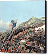 The Battle Of Alma On 20th September Canvas Print by Edmund Walker