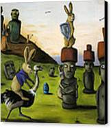 The Battle Over Easter Island Canvas Print by Leah Saulnier The Painting Maniac