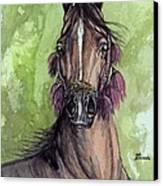 The Bay Arabian Horse 16 Canvas Print