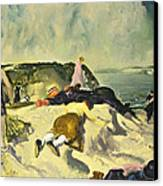 The Beach Newport Canvas Print by George Wesley Bellows