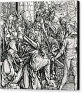 The Bearing Of The Cross From The 'great Passion' Series Canvas Print by Albrecht Duerer