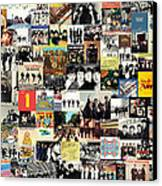 The Beatles Collage Canvas Print by Taylan Apukovska