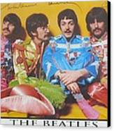 The Beatles Canvas Print by Donna Wilson