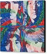 The Beatles Squared Canvas Print