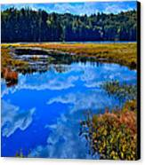 The Beautiful Cary Lake - Old Forge New York Canvas Print by David Patterson