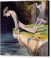 The Beautiful Narcissus Canvas Print by Honore Daumier