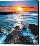 The Beautiful Sunset Beach Canvas Print by Boon Mee