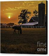 The Beauty Of A Rural Sunset Canvas Print by Mary Carol Story