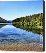 The Best Beach In Glacier National Park Panorama 2 Canvas Print