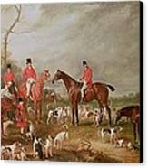 The Birton Hunt Canvas Print by John E Ferneley