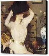 The Black Hat Canvas Print by Frank Benson