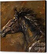 The Black Horse Oil Painting Canvas Print