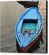 The Blue Boat Canvas Print by Kim Bemis