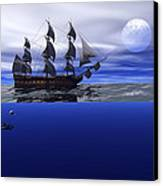 The Blue Deep Canvas Print by Claude McCoy