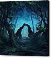 The Blue Forest Canvas Print by Cassiopeia Art
