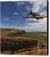 The Blue Skies Of Britain. Canvas Print by Pete Reynolds