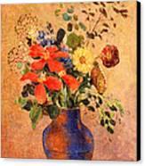 The Blue Vase Canvas Print by Odilon Redon