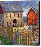 The Bluebirds' Song Canvas Print by Chuck Pinson