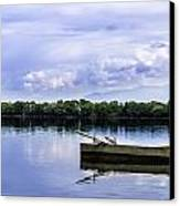 The Boat In Kerkini. Canvas Print