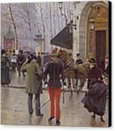 The Boulevard Des Capucines And The Vaudeville Theatre Canvas Print