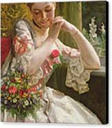 The Bouquet Canvas Print by Albert Raudnitz