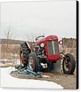 The Brave Little Tractor Canvas Print by Eugene Bergeron