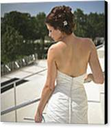 The Bride's Back Canvas Print by Mike Hope