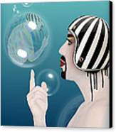 the Bubble man Canvas Print by Mark Ashkenazi