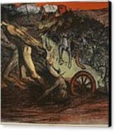 The Burden Of Taxation, Illustration Canvas Print by Eugene Cadel