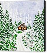 The Cabin Canvas Print by Judy M Watts-Rohanna
