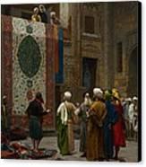 The Carpet Merchant Canvas Print by Jean Leon Gerome
