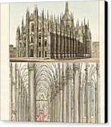 The Cathedral Of Milan Canvas Print