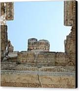 The Ceiling Of The Tetrapylon Aphrodisias Canvas Print by Tracey Harrington-Simpson